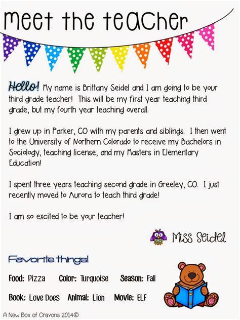 meet the teacher letter big hair big ideas meet the