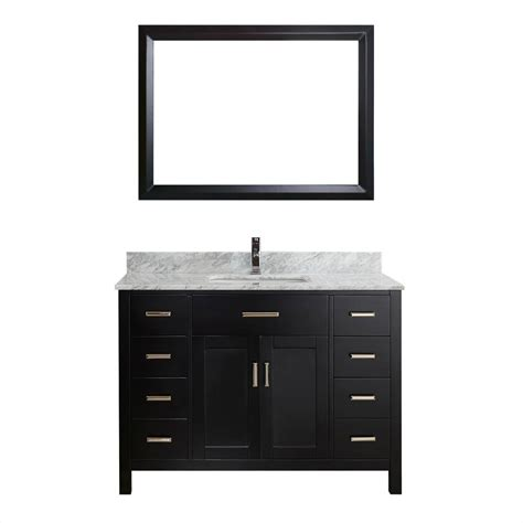 studio bathe vanity studio bathe kalize 48 in vanity in espresso with marble