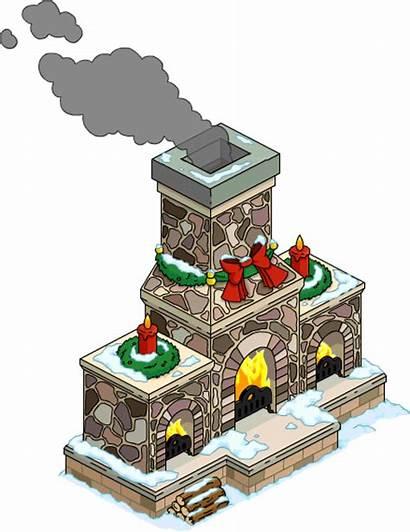 Fireplace Giant Simpsons Snow Tapped Menu Wikia