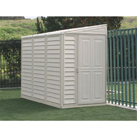 vinyl shed reviews duramax 174 4x8 sidemate vinyl shed with foundation 130900