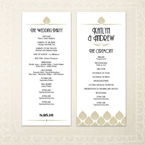 wedding program template text printable deco wedding program template diy wedding program editable text deco shell