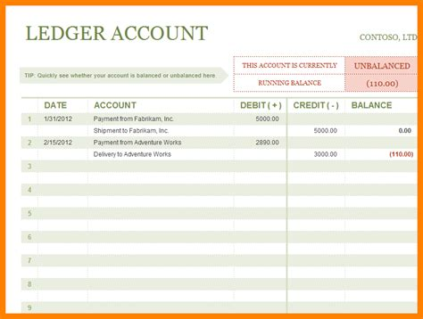sales ledger excel template ledger review
