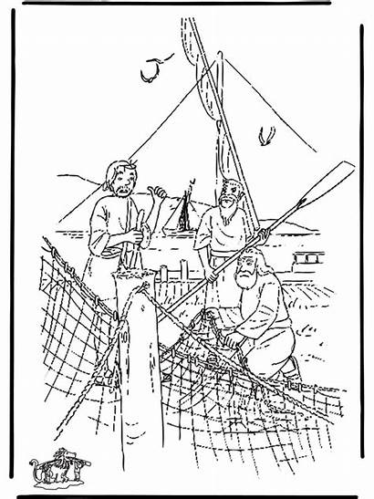 Fishing Disciples Testament Coloring Pages Bible Advertisement