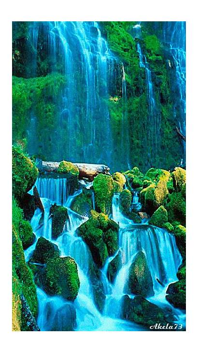 Nature Cool Water Scenery Waterfalls Very Motion