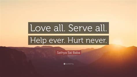 sathya sai baba quote love  serve