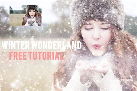 Winter Wonderland Free Ps Tutorial Adding A Textures And Snow Overlays  Photoshop Pinterest