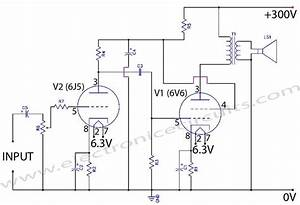 6v6 6j5 Class A Valve  Vacuum Tube  Amplifier Circuit