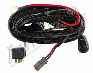 Off Road Led Light Bar On-off Power Switch 40 Amp Relay Wiring Harness