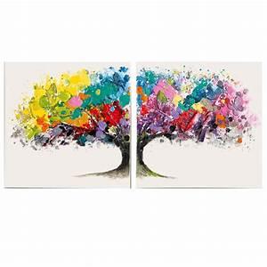 Dreiteilige Bilder Auf Leinwand : living bilder set magic tree wei bunt tannenholz leinwand acrylfarbe karstadt online shop ~ Orissabook.com Haus und Dekorationen