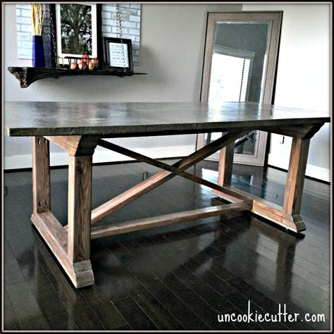 concrete dining table diy   uncookie cutter