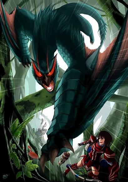 Hunter Monster Series Nargacuga Anime Naruga Fan