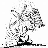 Coloring Beer Drinking Creature Getcoloringpages sketch template