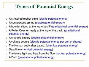 PPT - Work, Energy, Kinetic Energy, Potential Energy, and ...