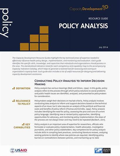 Policy Analysis Example Resource Guide Examples Template