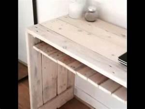 Construire Un Bureau : bureau en palettes youtube ~ Melissatoandfro.com Idées de Décoration