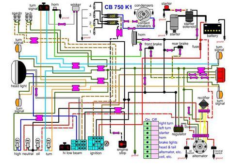 Cb 7 50 Wiring Diagram by Hondachopper Garage