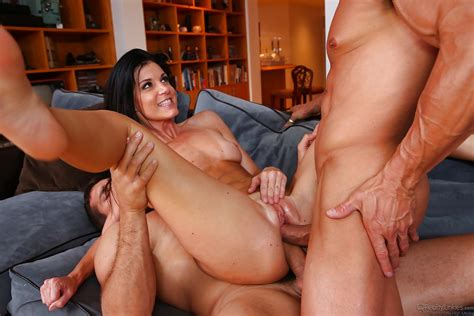 Frolic Brunette Milf Has Some Double Penetration Fun With