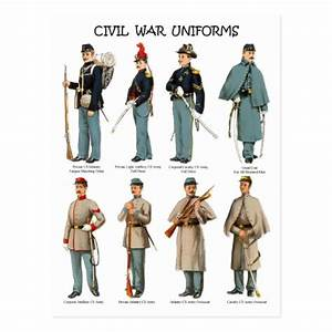 American Civil War Uniforms Postcard | Zazzle.com
