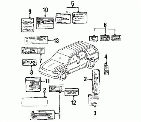 Gmc Yukon Part Diagram by 2004 Gmc Yukon Parts Diagram Automotive Parts Diagram Images