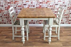Square Two / Four Seater Rustic Reclaimed Dining Set with