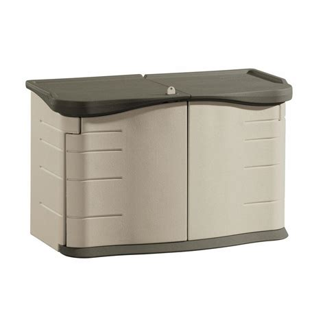 rubbermaid roughneck storage shed 5ft x 2ft rubbermaid 2 ft 3 in x 4 ft 6 in split lid horizontal