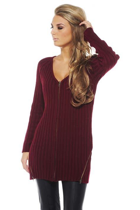 burgundy sweater womens sweater burgundy sleeve zip up ustrendy