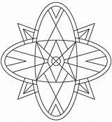 Kaleidoscope Coloring sketch template