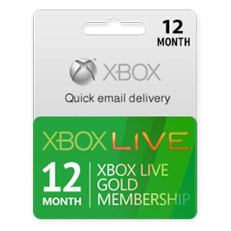 Xbox Live And Xbox Live Gold Xbox Live Gold Card