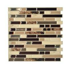 kitchen backsplash home depot smart tiles bellagio keystone 10 00 in x 10 06 in peel and stick mosaic decorative wall tile
