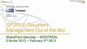 sharepoint 2013 document management out of the box With sharepoint document management training