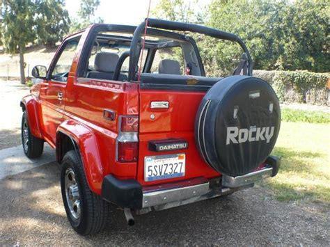 1990 daihatsu rocky 1990 daihatsu rocky sx 4x4 convertible