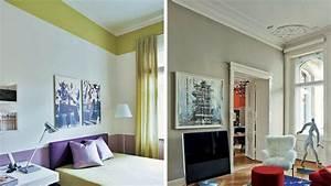 quelles couleurs choisir pour agrandir une piece With attractive peindre un couloir en 2 couleurs 1 peindre des bandes sur un mur peinture