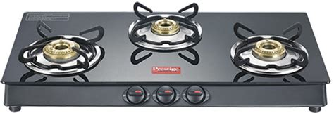 Prestige Marvel Plus 3 Burner Glass, Stainless Steel