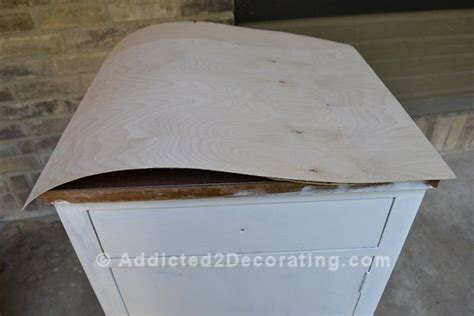 cover ugly laminate  real wood veneer