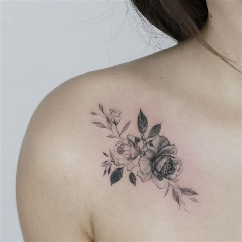front shoulder tattoo designs  beautiful women
