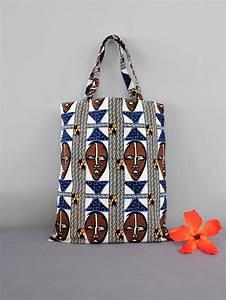 Pagné De Basket : tote bag wax print african print african mask wax fabric bag ethnic basket beach bag ~ Teatrodelosmanantiales.com Idées de Décoration