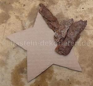 Holzsterne Zum Basteln : bastelanleitung stern mit baumrinde basteln und dekorieren ~ Articles-book.com Haus und Dekorationen