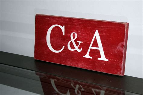 initials painted wood sign   signs  andrea