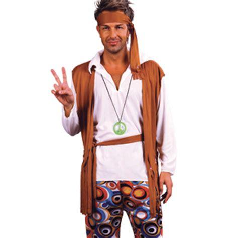 60s 70s Woodstock Hippie Fancy Dress Hippy Mens Costume | eBay