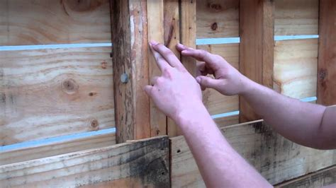 pallet shed walls part  youtube