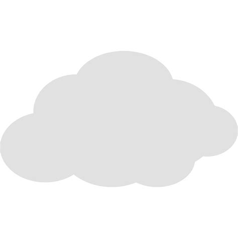 Cloud clipart simple - Pencil and in color cloud clipart