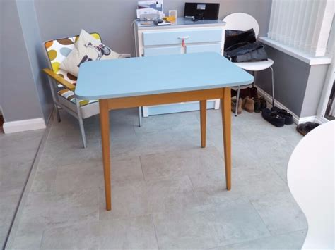 formica topped kitchen dining table  blue