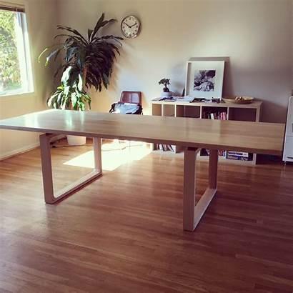 Table Dining Minimalist Modern Maple Tables Kitchen