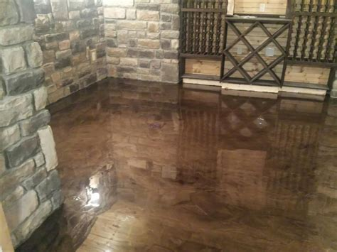 Floor Paint Marble by Brown Mocha Metallic Marble Epoxy Flooring Troy Mi