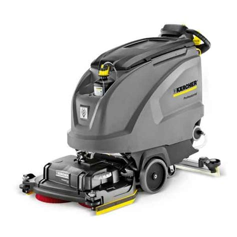 karcher floor scrubber manual karcher b 60 battery powered walk floor scrubber