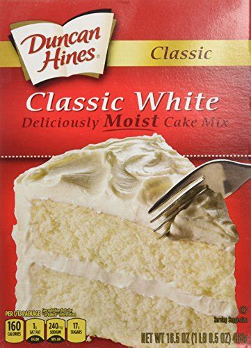 white cake mix duncan hines cake mix classic white 16 5 ounce pack of 1305