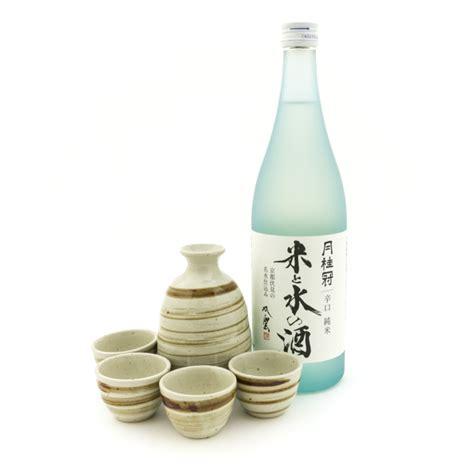 Complete Sake Set For Four With Junmai Sake