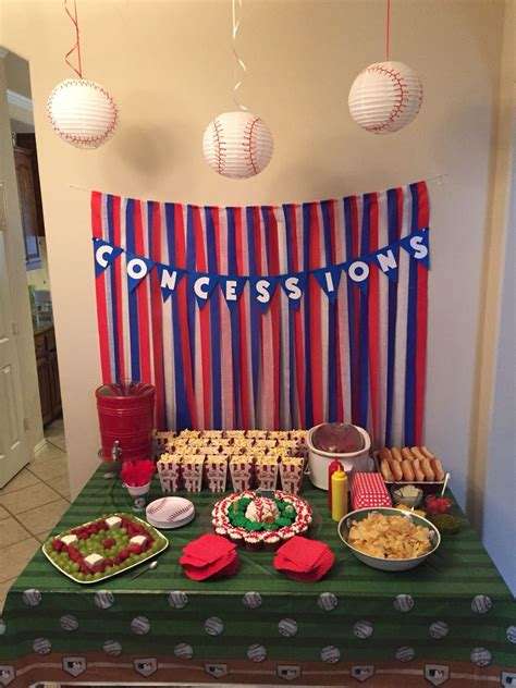 Baseball Themed Birthday Party  Luke First Bday