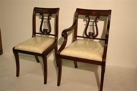 mahogany lyre back chairs lyre back dining room chairs solid mahogany schmieg