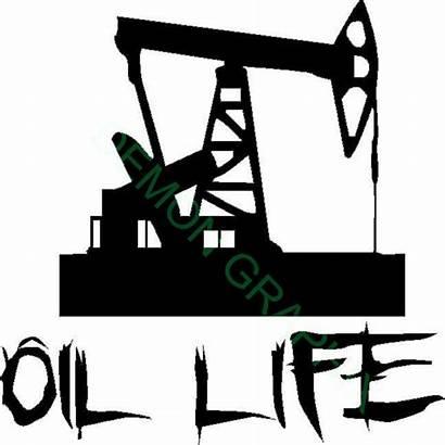Oil Oilfield Pump Rig Jack Vinyl Decal